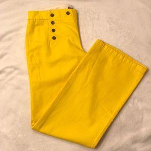 J Crew Yellow Sailor Pant
